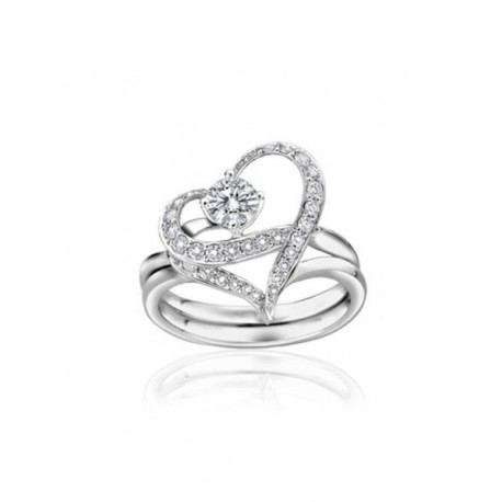 Sexy strass ring hart