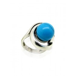 Blauwe parel ring