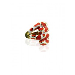 Sexy rood - witte ring